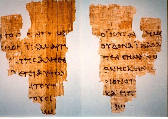 Papiro 52 - Testo mais antigo do Novo Testamento