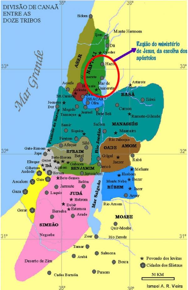 Tribos de Israel - Naftali, terra dos apóstolos